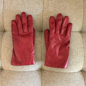 Leather & Cashmere Gloves VGUC SZ S